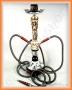 Vodní dýmka - Kostlivec 58cm(černá) 2 šlauchy