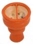 Korunka pro vodní dýmky Aladin 03 oranžová (půlená)