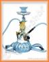 Vodní dýmka - Čarodějnice (modrá) 2 šlauchy