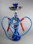 Vodní dýmka Shisha (modrá květ-2 šlauchy)