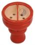 Korunka pro vodní dýmky Aladin 04 červená (půlená)