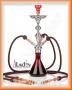 Vodní dýmka Aladin Evolution FATA MORGANA 68cm/3 červená