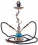 Vodní dýmka MITSUBA Baghira 2 šlauchy stříbrná (modrá)