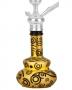 Váza pro vodní dýmky Aladin Loop 26cm (černo/zlatá)