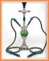 Egyptská vodní dýmka Top Mark 22/2 zelená (otočná)